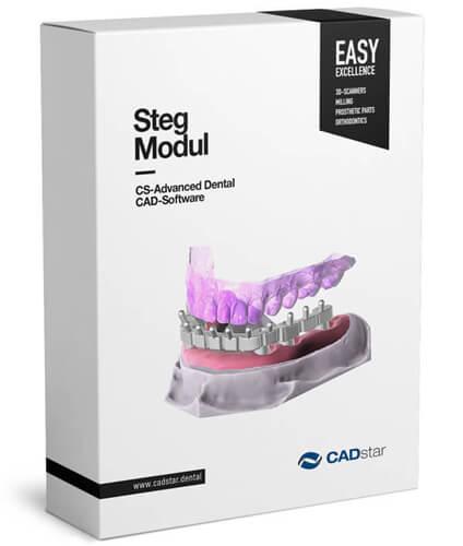 <h4>Steg Modul</h4> <br> Das Steg Modul erlaubt eine schnelle und einfache Realisierung von Stegkonstruktionen.  Aufgrund der durchdachten Designmöglichkeiten erlaubt Ihnen dieses Modul, Stege zu konstruieren welche selbst komplexen klinischen Situationen gewachsen sind und dabei ein Höchstmaß an Patientenkomfort bieten. Das Steg Modul bietet Ihnen eine umfangreiche Profilauswahl: Dolder®-, Hader-, Canada-, Hybrid-stege sowie individuelle Profile runden dieses Modul ab.  Um spannungsfreie Stegkonstruktionen umsetzen zu können bedarf es neben einer guten CAD Software ebenso einem ultra-präzisen Scansystem.