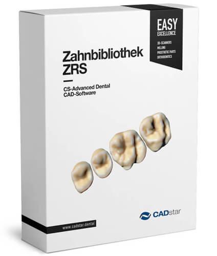 """<h4>Zahnbibliothek ZRS</h4> <br> Zusätzliche Zahnbibliotheken """"ZRS"""" von Manfred Wiedmann  Das Exocad Basis Modul liefert bereits eine Vielzahl von Zahnbibliotheken.  Für noch mehr Auswahl ist eine umfangreichere Bibliothek von natürlichen Zähnen als preiswertes Add-on erhältlich. Die Bibliothek umfasst die """"Anteriores"""" Kollektion von Dr. Jan Hajtó.<p></p><hr style=""""margin-top: 15px;""""><p style=""""font-size: 0.85em; line-height: 1.3em; max-width: 400px; position: relative !important; margin-left: auto !important; margin-right: auto !important;""""><br><strong>Mit dem Modulkauf erhalten Sie insgesamt:</strong><br>• 61 Sätze von Oberkiefer Anterior Zähnen • 19 Sätze von Unterkiefer Anterior Zähnen • 19 Sätze von Oberkiefer Posterior Zähnen • 19 Sätze von Unterkiefer Posterior Zähnen</p>"""