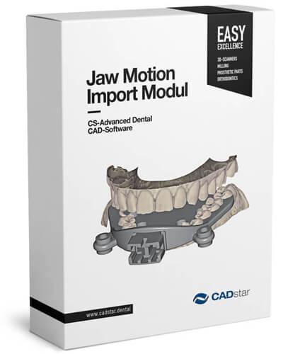 """<h4>Jaw Motion</h4> <br> Mit dem Modul """"Kieferbewegungsimport"""" kann der Benutzer eine echte Bewegungsregistrierung von externen Geräten (JMA-System von Zebris) importieren. Dieses Modul funktioniert in Kombination mit dem Virtuellen Artikulator Modul."""